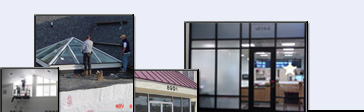 A few of our recent projects:  gym windows, commercial sky-light, store-front glass, and interior commercial glass