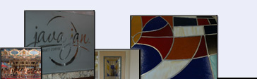A few of our recent projects:  carosel revamp, etched retail glass, stained-glass door, and church stained glass repair